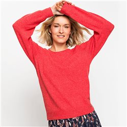 Long-Sleeve-Round-Neck-Sweater-Red