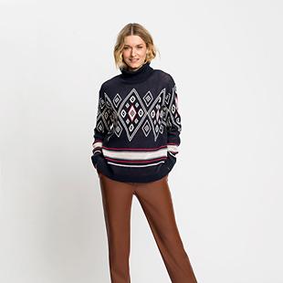 Long-Sleeve-Jacquard-Turtleneck-Sweater-Blue