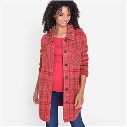 Long-Line-Plaid-Shacket-With-Front-Pockets-Red