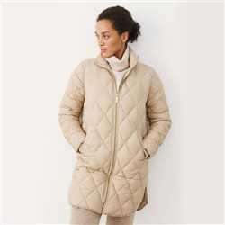 Olilas Quilted Coat Beige
