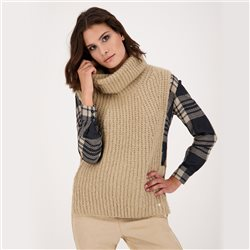 Knitted Slipover With Turtleneck Truffle