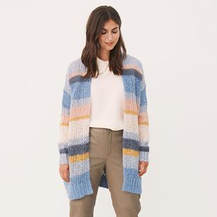 Kanae Knitted Cardigan Blue