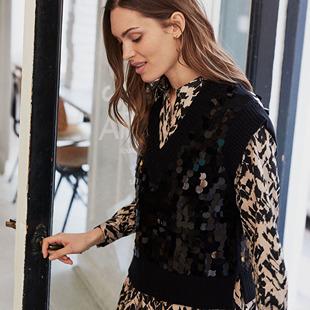 Leida Knitted Pullover Black