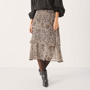 Lianna Pleated Skirt Black