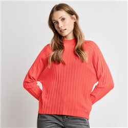 Sweater With Batwing Sleeves Red