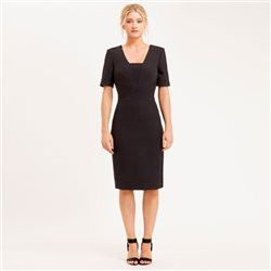 Eden Row Margate Dress Black Snake Jacquard