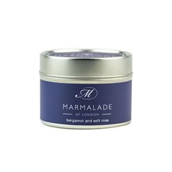 Marmalade Of London Bergamot & Soft Rose Small Tin Candle