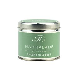 Marmalade Of London Tuscan Lime & Basil Medium Tin Candle