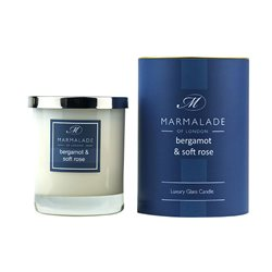 Marmalade Of London Bergamot & Soft Rose Large Glass Candle