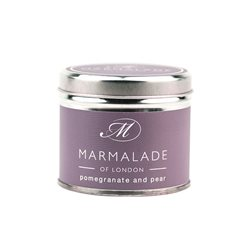 Marmalade Of London Pomegranate & Pear Medium Tin Candle