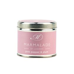 Marmalade Of London Pink Pepper & Plum Medium Tin Candle