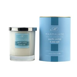 Marmalade Of London Pacific Orchid & Sea Salt Large Glass Candle