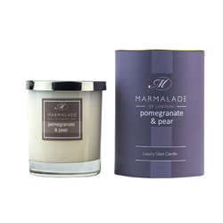 Marmalade Of London Pomegranate & Pear Large Glass Candle