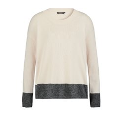 Olsen Knitted Jumper Cream And Grey