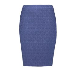 Taifun Lace Effect Lined Skirt Blue