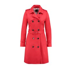 Taifun Knee Length Coat Red