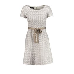 Taifun Jacquard Skater Dress Taupe