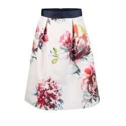 Fee G Floral Print Full Bodied Skirt