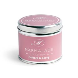 Marmalade Of London Rhubarb & Peony Tin Candle Medium