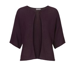 Betty & Co Knitted Mini Cardigan Plum