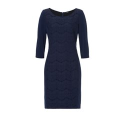 Vera Mont Sequin And Lace Dress Sapphire