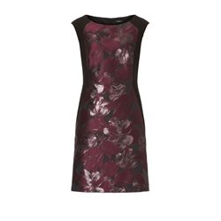 Vera Mont Floral Print Panel Dress Grape