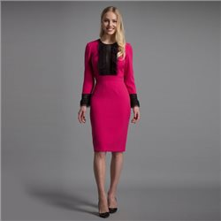 Eden Row Sierra Dress Fuchsia