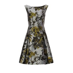 Vera Mont Floral Skater Dress Pewter