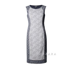 Picadilly Woven Shift Dress Navy