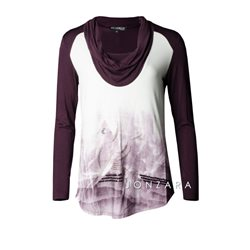 Picadilly Scooped Neck Top Mauve