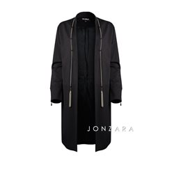 Picadilly Coat With Chain Detail Black