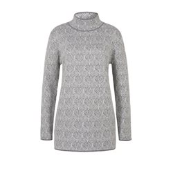 Olsen Long Sleeved Printed Jumper Silver