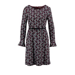 Taifun Bell Sleeve Dress Maroon