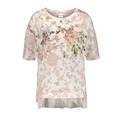 Taifun Layered Floral Print Top Pink
