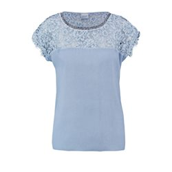 Taifun Lace Embellished Top Blue