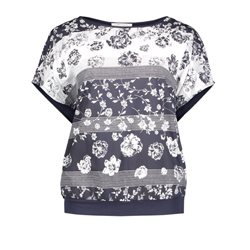Betty Barclay Capped Sleeved Top Navy