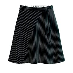 Sandwich Clothing Asymmetrical Stripe Skirt Black