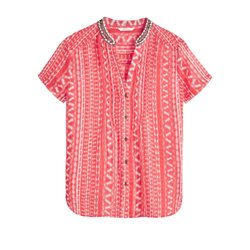 Sandwich Clothing Beaded Blouse Red