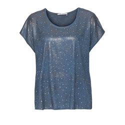 Monari Sequin Top Blue