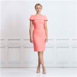 Eden Row Palmero Dress Coral