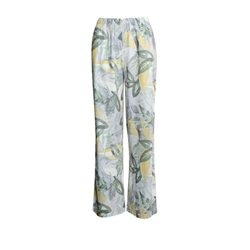 Emreco Loose Leave Print Trousers Green
