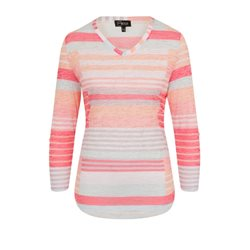 Emreco Staggered Stripe Top Coral