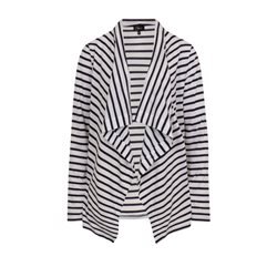 Emreco Striped Waterfall Cardigan Navy