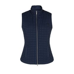 Olsen Lightly Quilted Gilet Navy