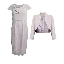 Cabotine Lace Dress With Jacket Mauve