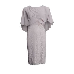 Rosa Clara Lace Dress With Cape Overlay Mauve