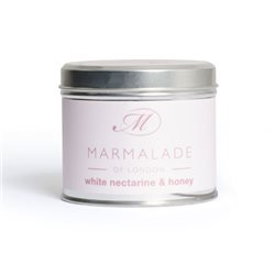 Marmalade Of London White Nectarine & Honey Medium Tin Candle