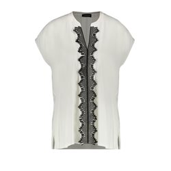 Taifun Embroidered Top Black And Cream
