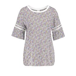 Taifun Tiny Flower Print Top Mauve