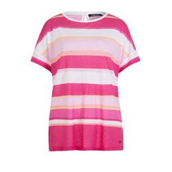 Olsen Block Stripe Relaxed Top Pink